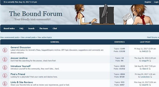 bound forum best bondage forums